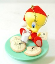 "Hallmark 2004 Tweety Bird Christmas Cookies ""Midnight Snack"" Ornament - $14.84"