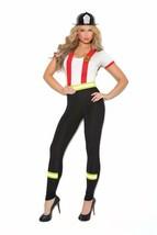 Fireman Costume Top Pants Suspenders Emergency Fighter Light My Fire Her... - £33.49 GBP+
