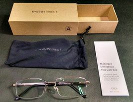 EyeBuyDirect Eyeglass Frames ONLY with Pouch, Metal, Axis, 56-18-145 - $8.51