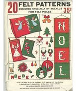 McCalls 20 Felt Patterns Specifically Designed for McCalls - UNCUT Vintage - $3.00