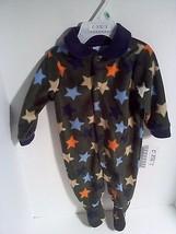 Carter's Boys Infants Sizes 3-6 6-9 Months 1 PC Navy Blue Sleeper Stars     - $12.95