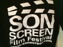 Sonscreen Film Fest T-Shirt 100% Cotton L BLACK- - $10.95