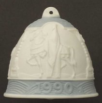 Lladro 1990 Christmas Porcelain Bell # 5.641 Vintage Collectible - $129.99