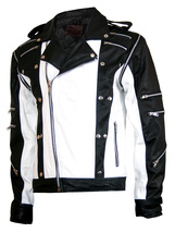 MJ Pepsi Black & White Michael Jackson Leather Jacket | LJM - $219.00