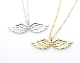 Angel Love Wing Necklace In Gold / Silver - $11.50