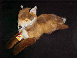 """28"""" Steiff  Molly Fuzzy Fox Plush Stuffed Toy With Tags Number 0347/55 - $233.74"""