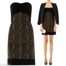 Dvf Diane Von Furstenberg  Garland Two Strapless Snake Print Dress Size 10   Nwt - $143.55