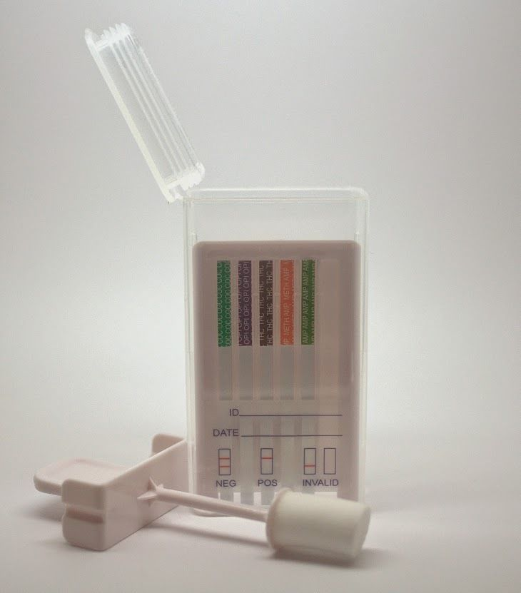 Primary image for 5 Drug Testing Kits - 6-Panel Swab Cube Drug Tests for 6 Drugs - Free Shipping