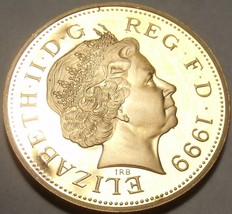 Gem Cameo Proof Great Britain 1999 50 Pence~Only 79,401 Minted~Free Shipping