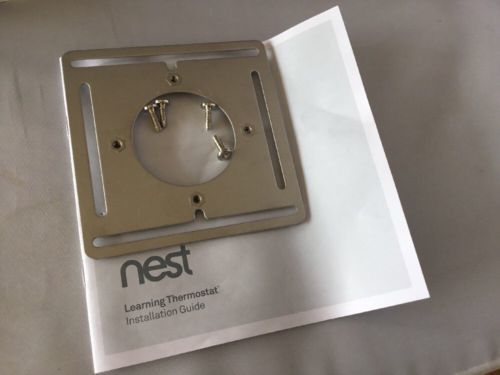 Electrical Wall Box Metal Plate for Nest Thermostat 3rd Gen. D