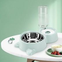 Dog Food Water Feeder Bowls Bundle Fountain Drinking Dish Pet Feeding Su... - $24.83