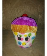"""Goffa Cupcake Plush 7"""" Cherry On Top Multicolor Spots Ages 3+ Stuffed An... - $12.86"""