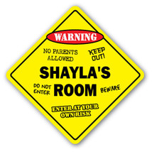 SHAYLA'S ROOM SIGN kids bedroom decor door chil... - $8.89