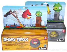 Lot 2 KNEX Building Sets Angry Birds Red Yellow Small Medium Minion Pigs... - $25.99