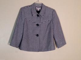 Womens JM Collections Petite Size 10P Black And White Short Blazer - $30.68