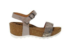 Sandalo con tacco MEPHISTO XANDRA in pelle taupe - Scarpe Donna - $153.27