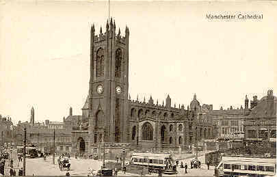 Primary image for Manchester Cathedral vintage Post Card