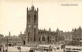 Manchester Cathedral vintage Post Card - $5.00