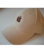 Apple logo Hat embroidered adjustable natural c... - $17.85
