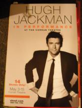HUGH JACKMAN IN PERFORMANCE POSTER - PRE-BROADWAY SF 2011 - $17.10