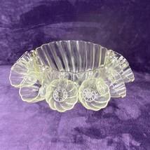 Vintage Hazel Atlas Colonial Swirl Punch Bowl w/ 8 Hookable Cups - $89.10