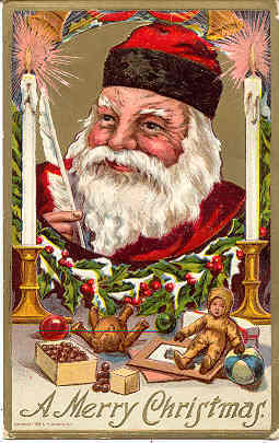 Primary image for  Merry Christmas from Santa post card 1910