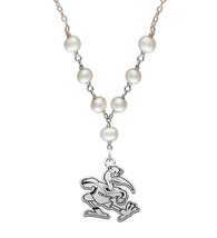 Miami Hurricanes Freshwater Pearl Necklace - $79.00