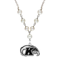 Kent State Golden Flashes Freshwater Pearl Necklace - $79.00