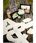"""Wedding Guestbook Letters- All 3 pieces- 18"""" high-Your Initials! - $60.00"""