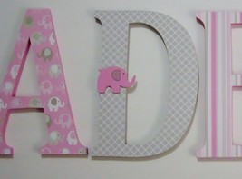 Custom Wood Letters-ANY NAME-We can co-ordinate... - $10.00