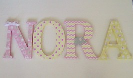 Custom Wood Letters-ANY NAME-We can co-ordinate with your décor - $12.50