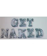 """Wood Letters- Wall Letters- Decorated Letters-Large- """"GET NAKED"""" Bathroo... - $48.00"""