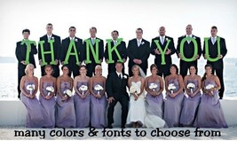 Thank You Card Wood Letters, Wedding Letters,Photo Prop Letters - $55.00