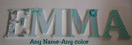 Wood Letters-Nursery Decor- ANY NAME- Custom made to your order or decor - $12.50