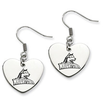 Wright State Raiders Heart Drop Earrings - $788,39 MXN