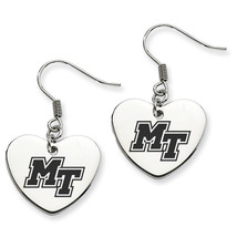 Middle Tennessee State Blue Raiders Heart Drop Earrings - $788,39 MXN