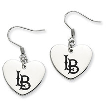 Cal State Long Beach 49ers Heart Drop Earrings - $788,39 MXN
