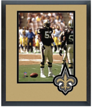 Vaughan Johnson New Orleans Saints - 11 x14 Team Logo Matted/Framed Photo - $43.95