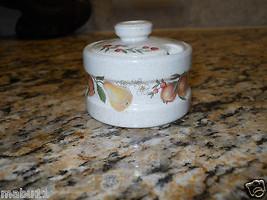 Wedgwood Quince Mustard Pot Condiment Jar Fruit Ring RARE - $13.85