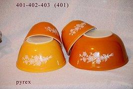 "SET OF 3 - 1960-70's Vintage Pyrex "" Butterfly Gold "" 1 1/2 Pint, 1 1/2 Quart &  - $98.01"