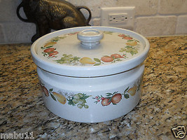 "Wedgwood Quince 8 1/2"" X 4 1/2"" Covered Casserole ENGLAND Fruit 2.5 QUART - $26.72"