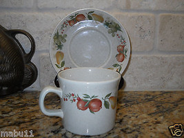 "Wedgwood Quince 2 3/4"" Cup and Saucer Set ENGLAND Fruit - $4.94"