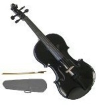 Lucky Gifts 3/4 Size Beginner, Student Violin with Case and Bow ~ Black - $49.50