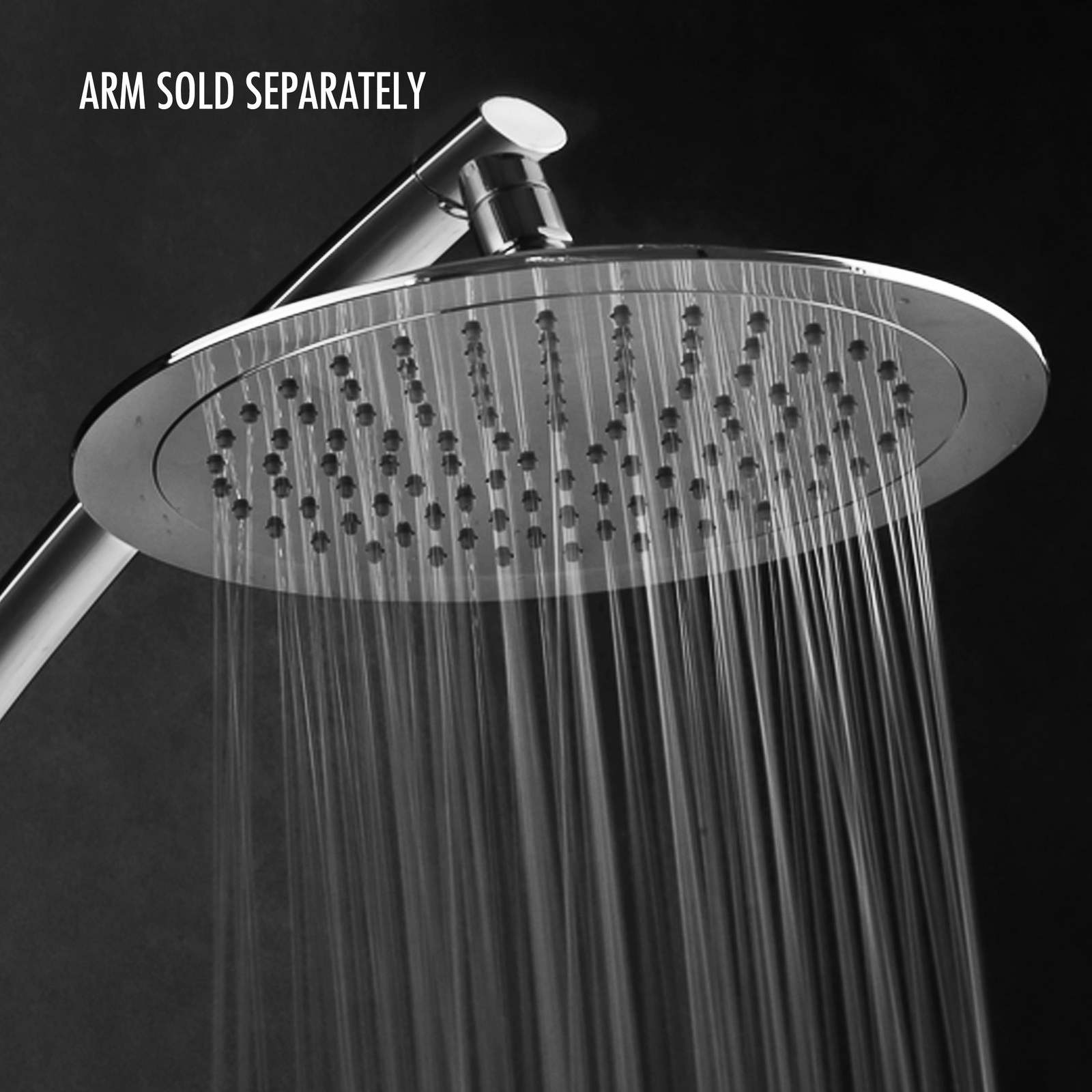 Primary image for Premium Stainless Steel 10-inch Square Rainfall Shower Head (without shower arm)
