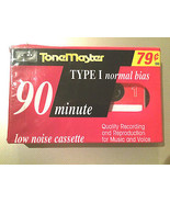 90 min. Audio Tape Cassette Blank Media Tonemaster - $2.50