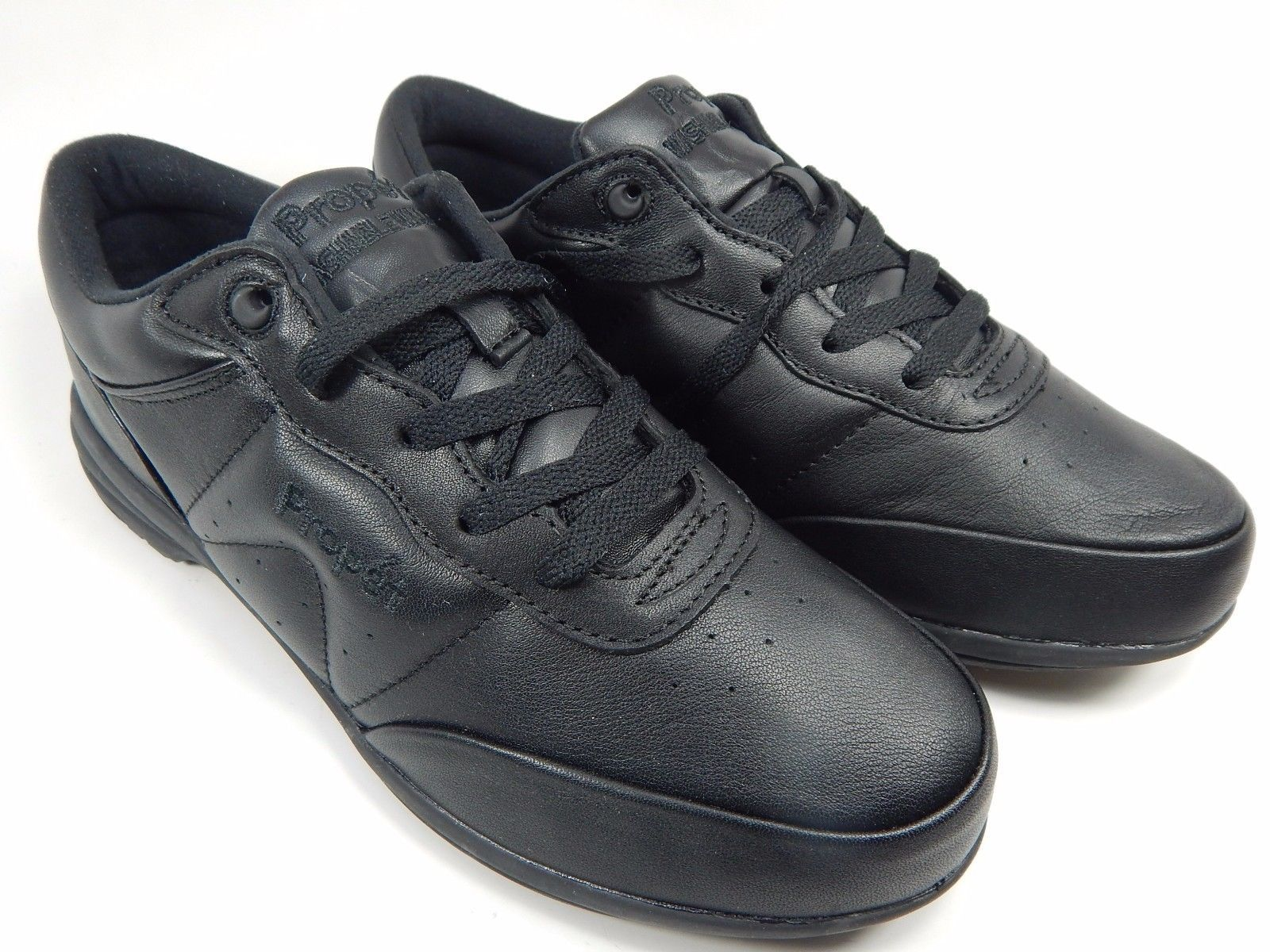 Propet Washable Walker Women's Leather Walking Shoes Size 9.5 M (B) Black W3840