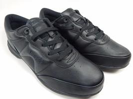 Propet Washable Walker Women's Leather Walking Shoes Size 9.5 M (B) Black W3840