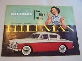 1959  HILLMAN  MINX  CONVERTIBLE OWNER SALES BROCHURE  - $34.99