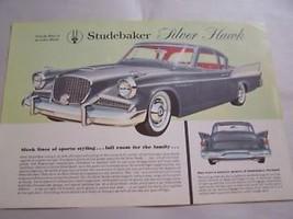 1958 STUDEBAKER OWNERS  SALES BROCHURE  1959  - $34.99