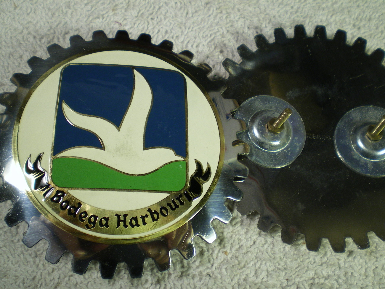 GRILL BADGE FROM BODEGA HARBOUR COUNTRY CLUB~~~SONOMA COUNTY CA